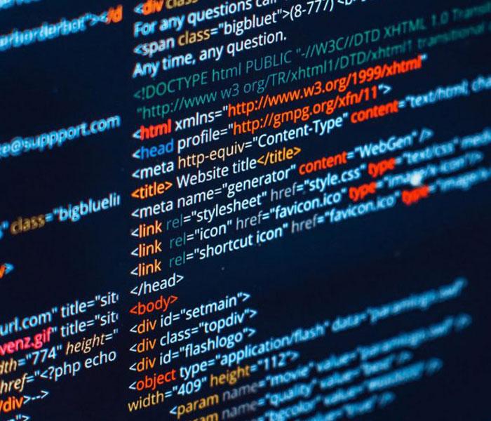 کد برنامه نویسی وب سایت